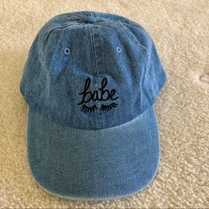 urban outfitters denim babe hat